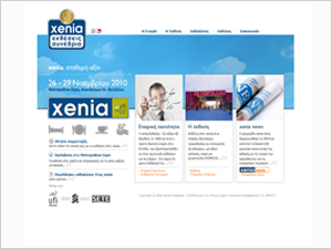 xenia Exhibitions-Conferences S.A. Web Site Design
