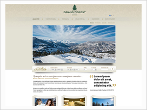 Grand Forest Resort Metsovo Site Design